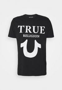 True Religion - CREW NECK BIG HORSESHOE - Triko spotiskem - black - 0