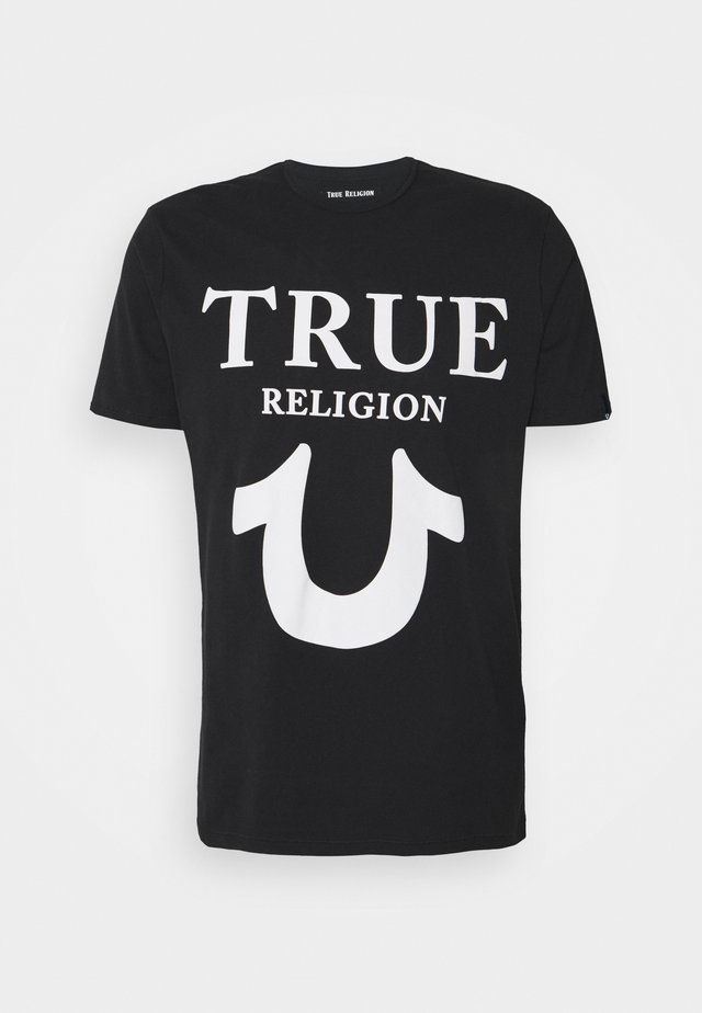 CREW NECK BIG HORSESHOE - T-shirt med print - black