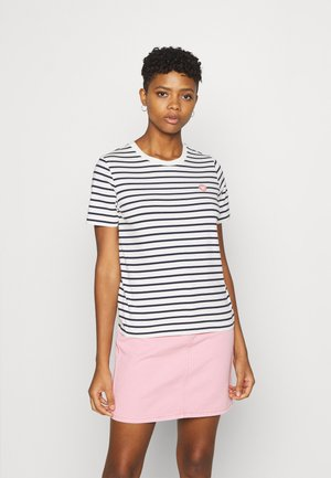 MIA  - Print T-shirt - off-white/navy stripes