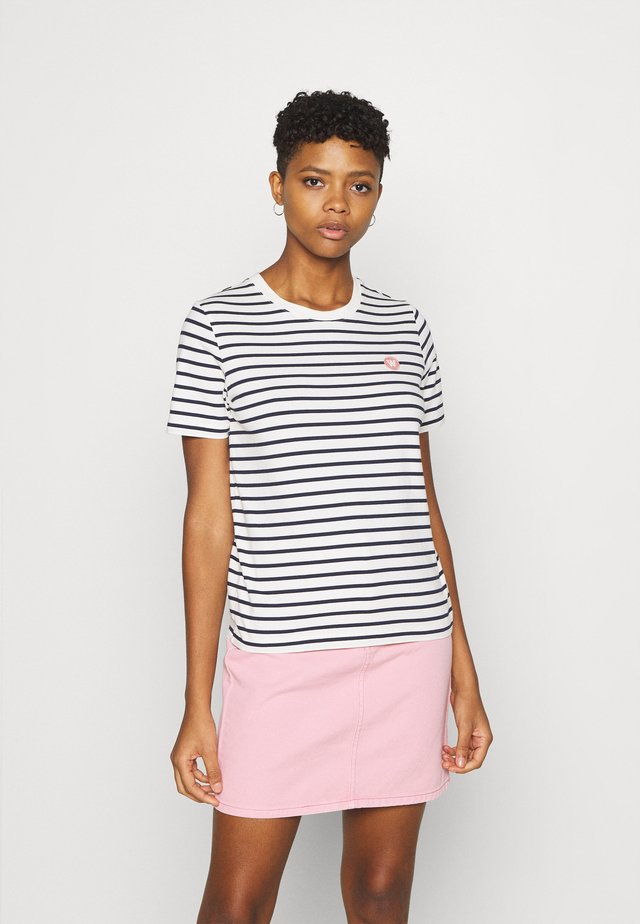 MIA  - Triko spotiskem - off-white/navy stripes