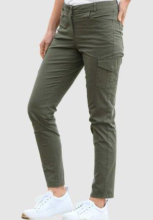 Cargo trousers - moosgrün