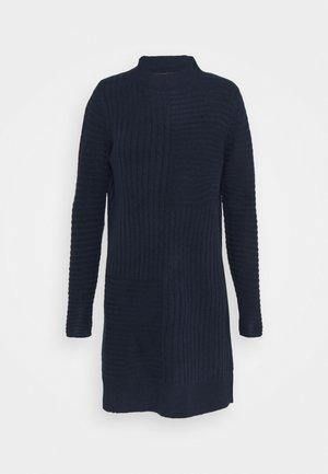 BLOCK RIBBED DRESS - Sukienka dzianinowa - ink