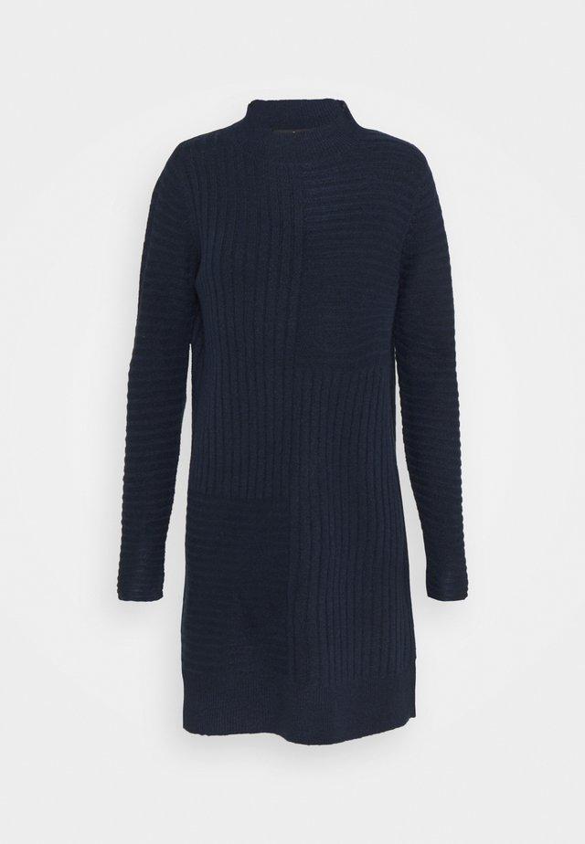 BLOCK RIBBED DRESS - Robe pull - ink