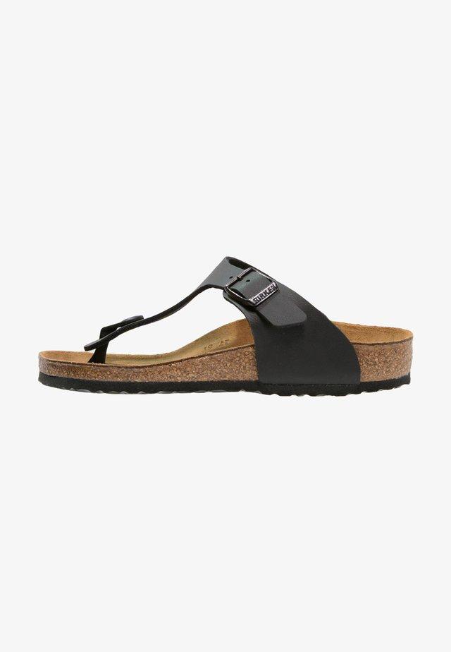GIZEH - Sandály s odděleným palcem - black