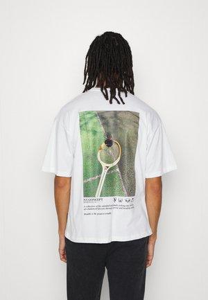 COURT TEE UNISEX - T-shirt print - white