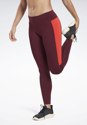 RUNNING ESSENTIALS LEGGINGS - Leggings - burgundy
