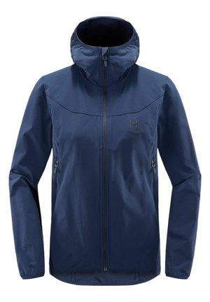 NATRIX HOOD - Soft shell jacket - tarn blue