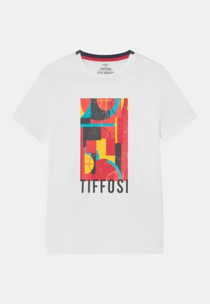 DUDLE - T-shirt con stampa - white