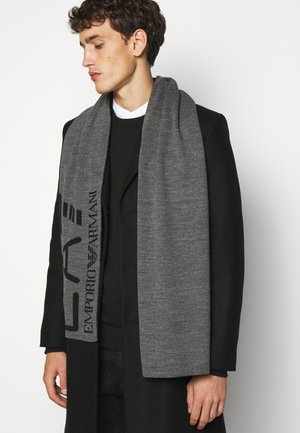 UNISEX - Scarf - dark grey melange/black