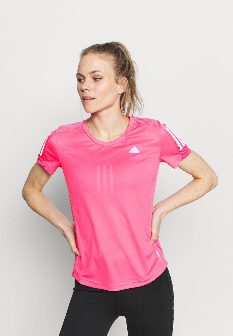 adidas Performance - OWN THE RUN TEE - T-shirts med print - scream pink