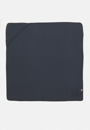 MUSLIN HOODED TOWEL UNISEX - Beach towel - blue