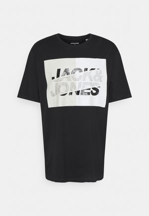 JCONOVO  CREW NECK  - Print T-shirt - black