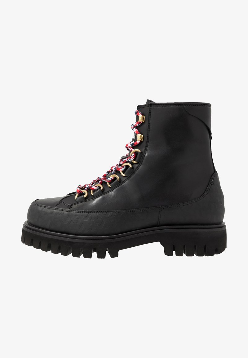 Tommy Hilfiger - FASHION MONOGRAM BOOT - Snørestøvletter - black