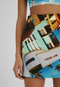 Desigual - DESIGNED BY ESTEBAN CORTAZAR - Mini skirt - blue - 3