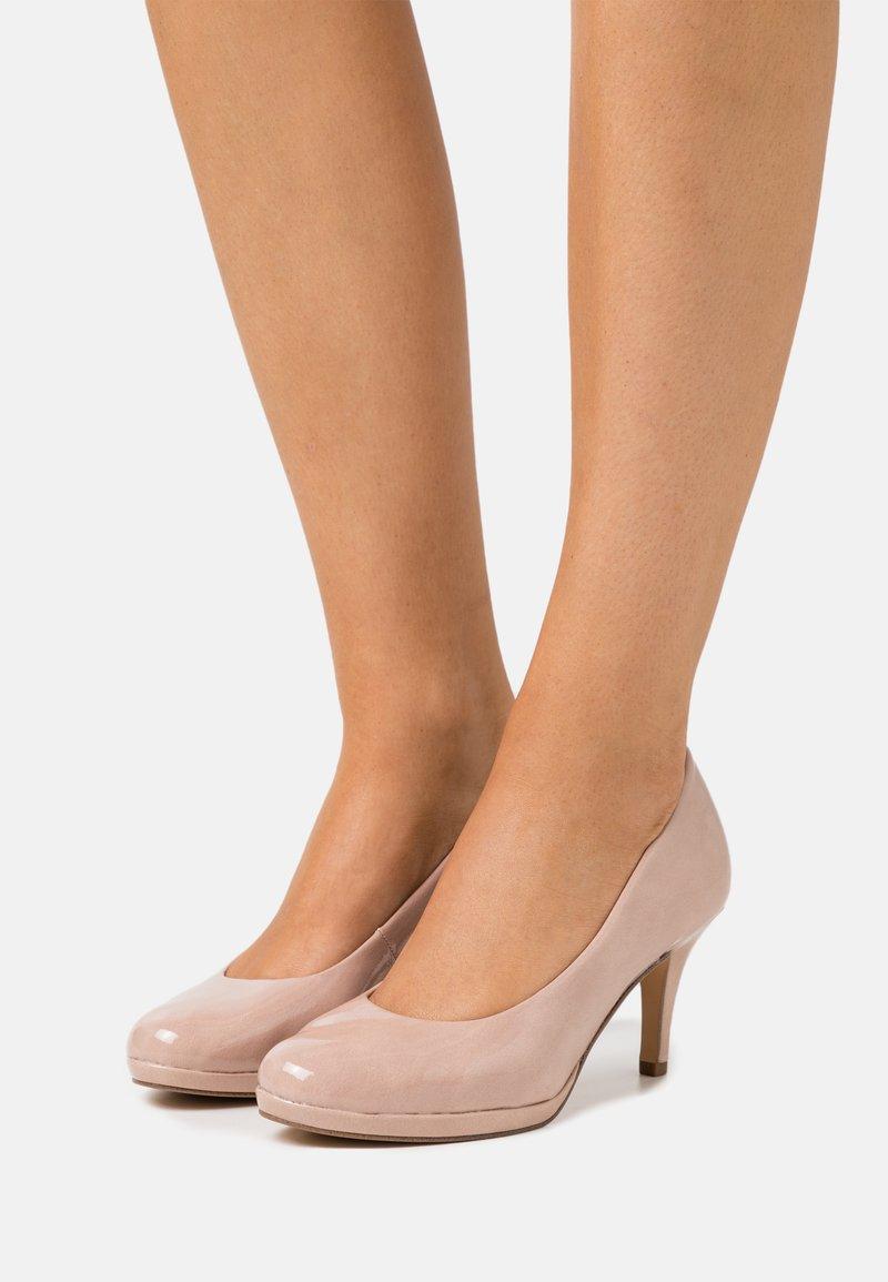 Tamaris - COURT SHOE - Classic heels - old rose