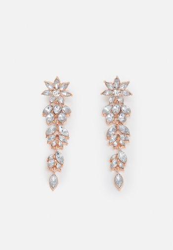 PCLAY EARRINGS - Earrings - rose gold-coloured/clear