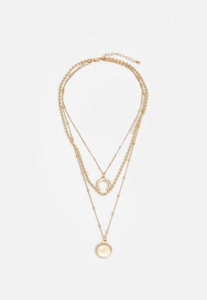 PCFLAMINGI COMBI NECKLACE - Halskette - gold-coloured