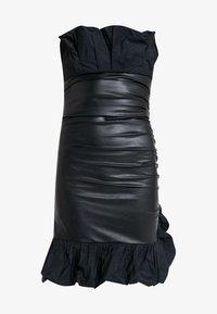 Pinko - STRANAMORE ABITO SIMILPELLE - Koktejlové šaty/ šaty na párty - black - 4