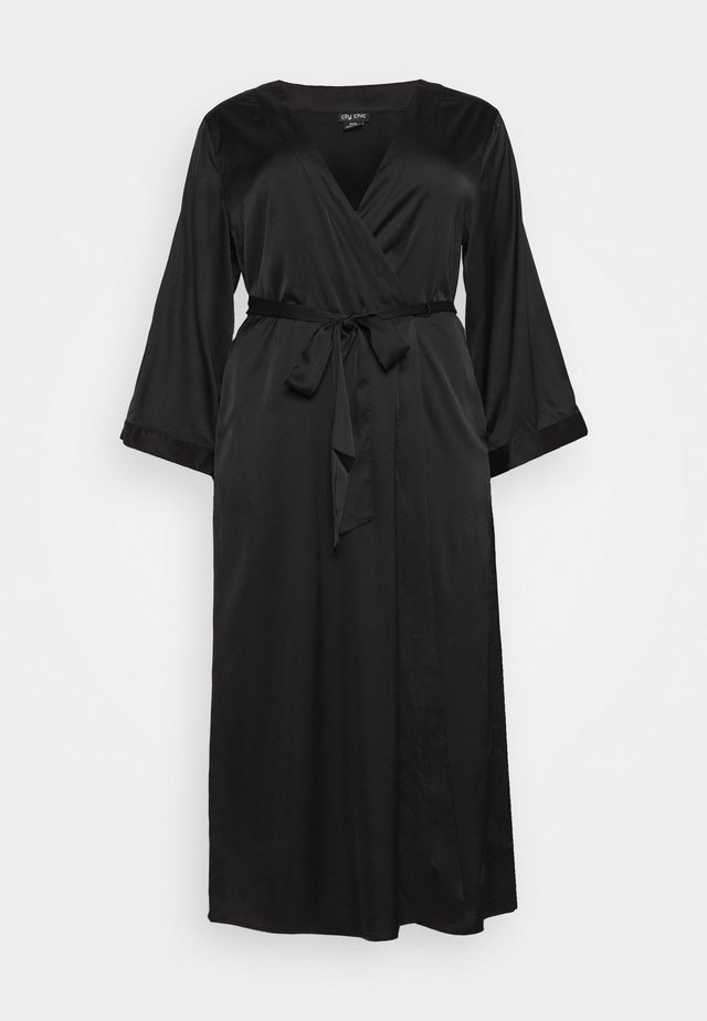 WRAP LONG - Dressing gown - black