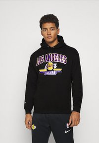 Mitchell & Ness - NBA LA LAKERS ARCH LOGO HOODY - Squadra - black - 0
