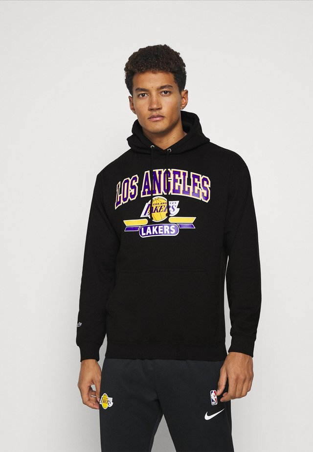 NBA LA LAKERS ARCH LOGO HOODY - Klubbkläder - black