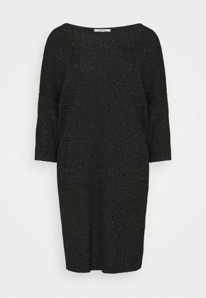 DRESS - Strikket kjole - black
