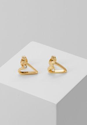 OPEN HEART STAR & CHOUPETTE TRIPLE - Øreringe - gold-coloured