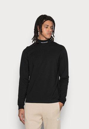 MICRO BRANDING HIGH NECK TEE - Pitkähihainen paita - black