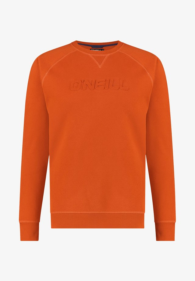 CREWS LOGO CREW NECK - Sweatshirt - harvest pumpkin
