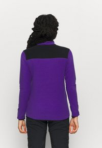 The North Face - GLACIER SNAP NECK - Fleecetrøjer - peak purple/tnf black - 2