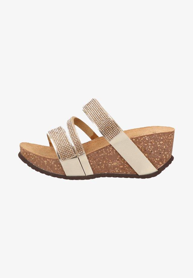 Sandales compensées - platin