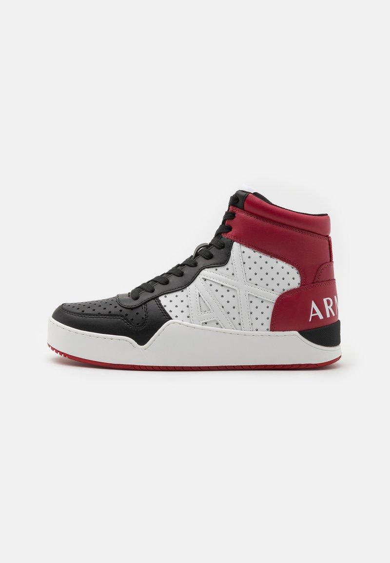 Armani Exchange - Sneakers hoog - white/black/red