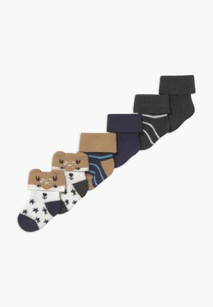 NEWBORN BOY 6 PACK - Socks - tinte/grau