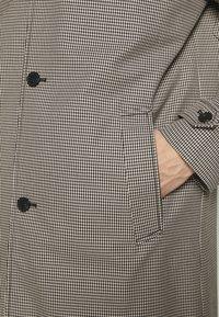 The Kooples - TARTAN COAT - Classic coat - black/ecru - 6