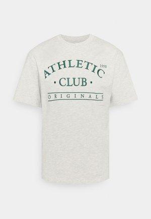 JORTOBIAS TEE CREW NECK FRONT BIG UNISEX  - Print T-shirt - white melange