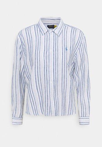 STRIPE - Button-down blouse - white/astor blue
