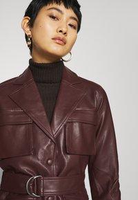 Twist & Tango - CECILIA JACKET - Faux leather jacket - reddish brown - 3