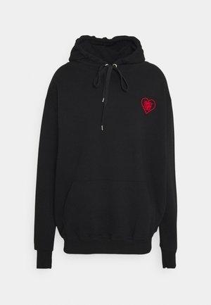 HOODIE HEART - Sweatshirt - black