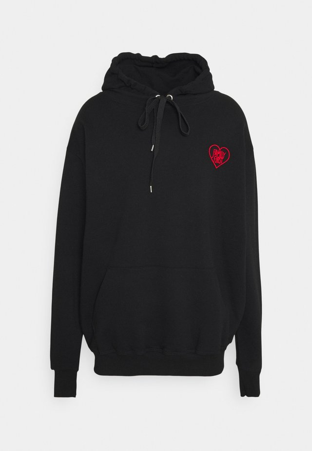 HOODIE HEART - Sweater - black
