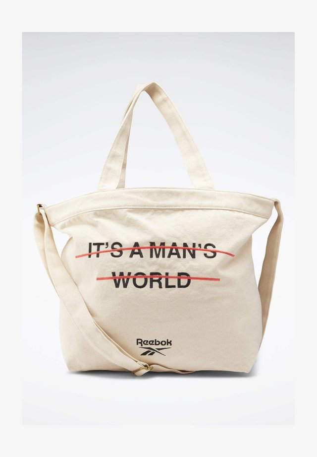 IT'S A MAN'S WORLD  - Shopping bag - white