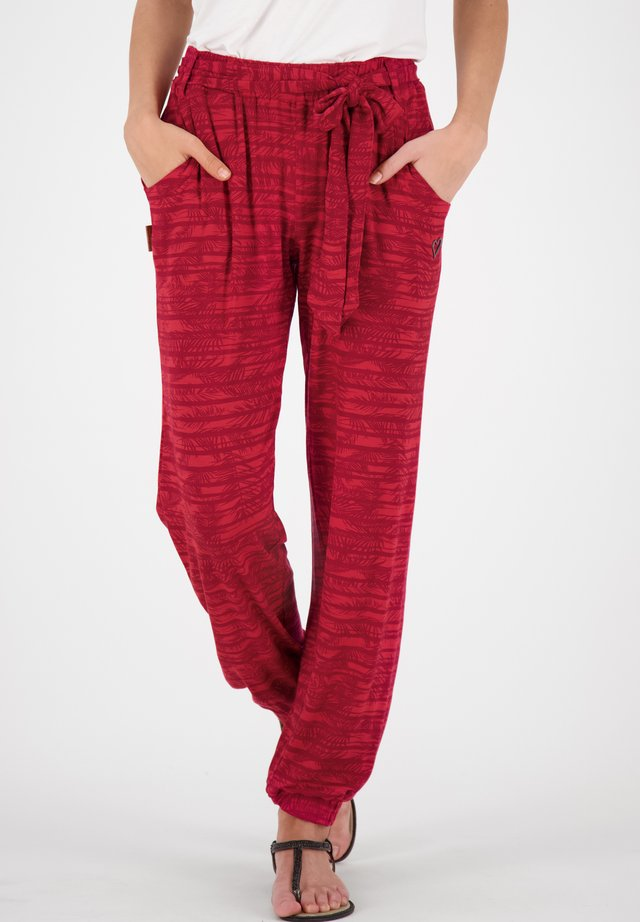 ALICEAK - Trousers - cranberry
