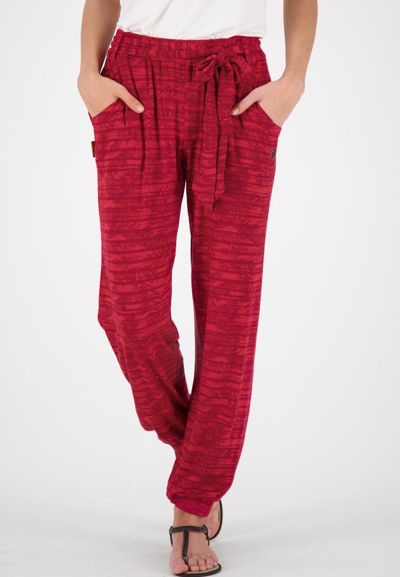 alife & kickin - ALICEAK - Trousers - cranberry