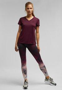 Esprit Sports - Basic T-shirt - bordeaux red - 1