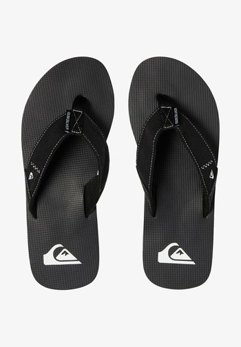 MOLOKAI ABYSS - T-bar sandals - black/black/white
