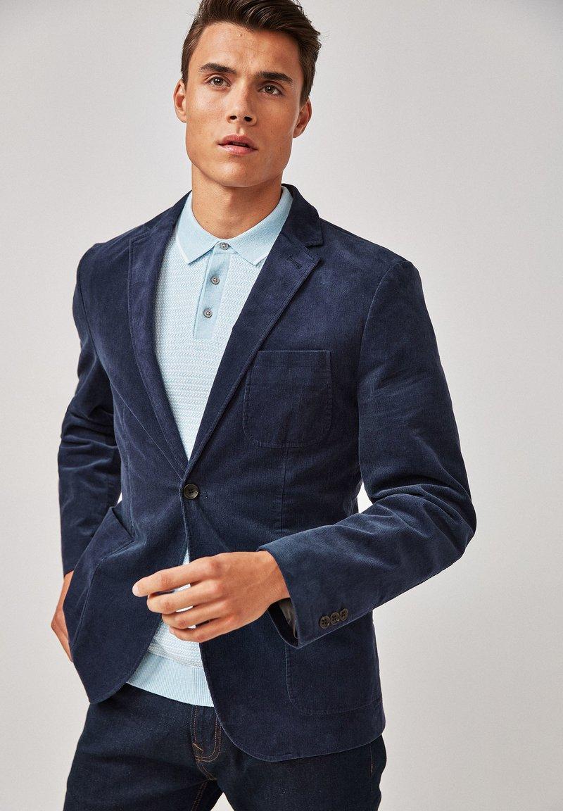 Next - CORD - Blazer jacket - blue