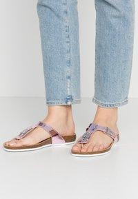 Scholl - BIMINOIS - T-bar sandals - rose - 0