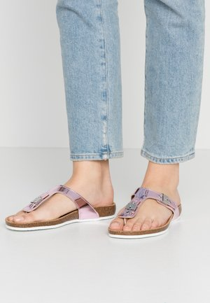 BIMINOIS - T-bar sandals - rose