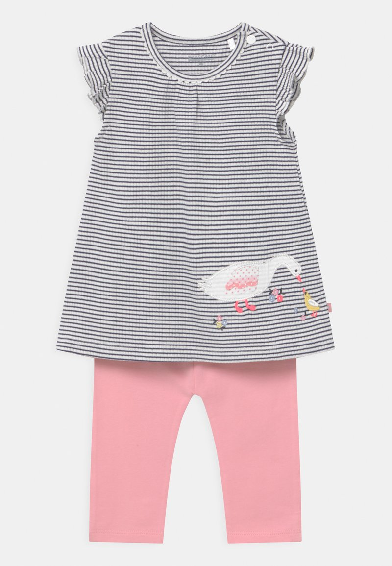 Staccato - SET - Leggings - Trousers - dark blue/light pink