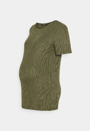 TEE ZEBRA - Print T-shirt - ivy green