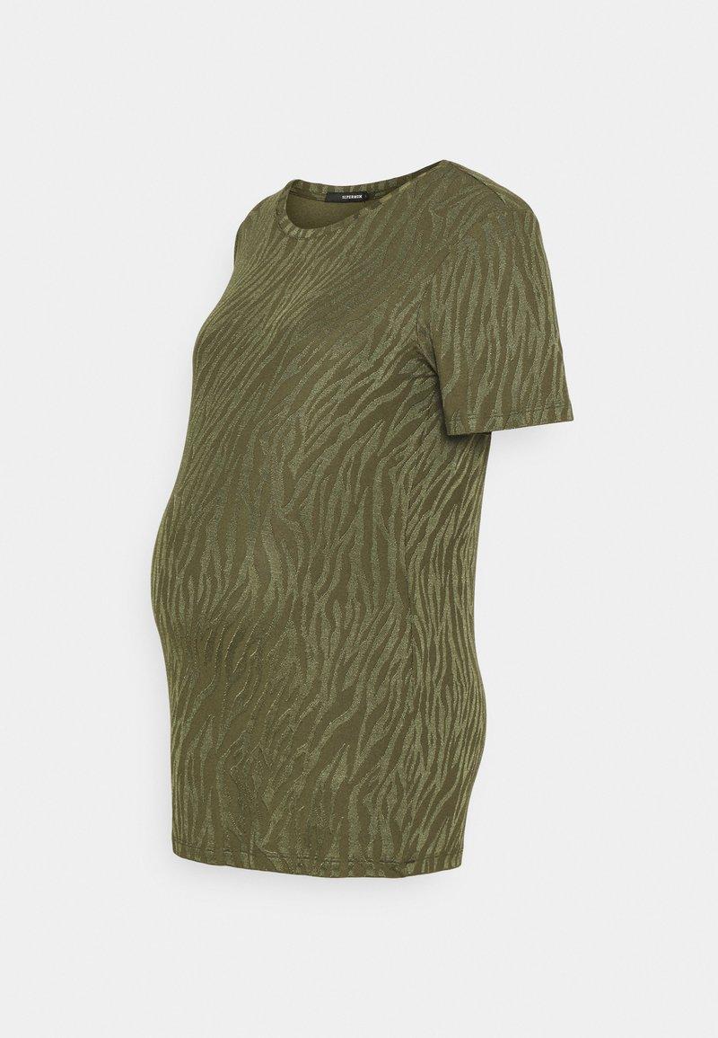 Supermom - TEE ZEBRA - Print T-shirt - ivy green